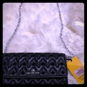 VALENTINO WALLET WITH CROSSBODY CHAIN